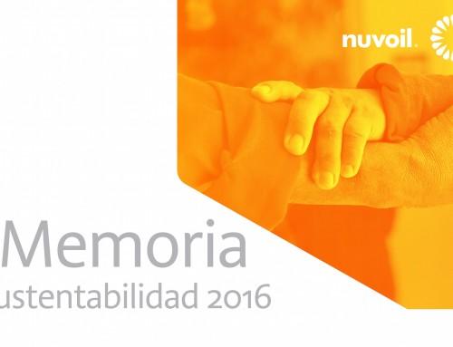 Nuvoil publica su Memoria de Sustentabilidad 2016