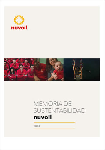 portada memoria de sustentabilidad nuvoil 2015