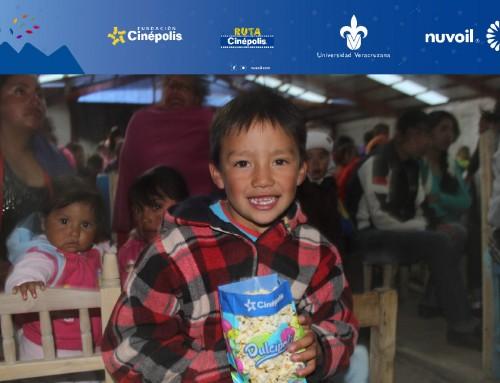 Nuvoil, Cinépolis y UV llevan cine a comunidades rurales veracruzanas a favor de una cultura de paz