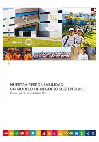 portada memoria de sustentabilidad nuvoil 2017