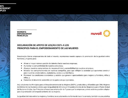 Nuvoil se adhiere a los Principios para el Empoderamiento de las Mujeres WEPs de las Naciones Unidas